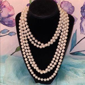 Long Vintage Costume Pearls